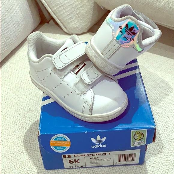 875bab44bd adidas Shoes | Stan Smith White Infant Toddler Sneakers | Poshmark